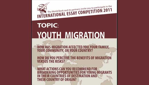 world bank 2011 international essay competition on youth migration