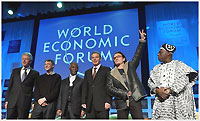 William J. Clinton, Founder, William Jefferson Clinton Foundation; William H. Gates III, Co-Founder, Bill & Melinda Gates Foundation, Chairman and Chief Software Architect, Microsoft Corporation, USA; Thabo Mbeki, President of South Africa; Tony Blair, Prime Minister of the United Kingdom; Bono, Musician, DATA (Debt, AIDS and Trade in Africa), United Kingdom, and Olusegun Obasanjo, President of Nigeria