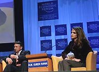 Pervez Musharraf, President of Pakistan; Queen Rania of Jordan