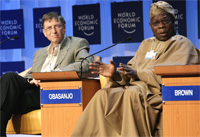 Bill Gates, Olusegun Obasanjo, President of Nigeria