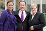 World Bank President Dr. Jim Yong Kim flanked by US Environmental Protection Agency's Administrator Lisa Jackson (left) and World Bank's Vice President for Sustain Development, Rachel Kyte.