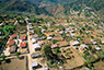 An aerial view of a rural town in Mexico.